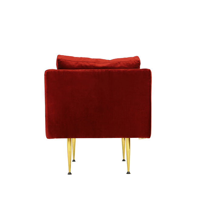 contemporary lounge chair with red velvet