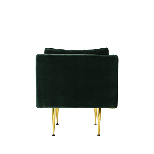 contemporary lounge chair with teal velvet