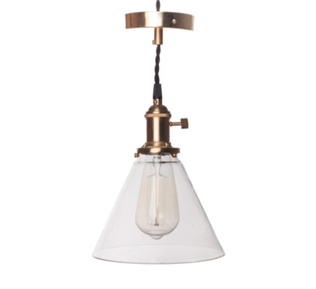 Glass Cone B Ceiling LIght