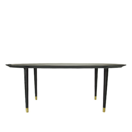 oval dining table  sc 1 st  White on White Furniture & Helga - Oval Dining Table - Modern Oval Dining Table - Walnut ...