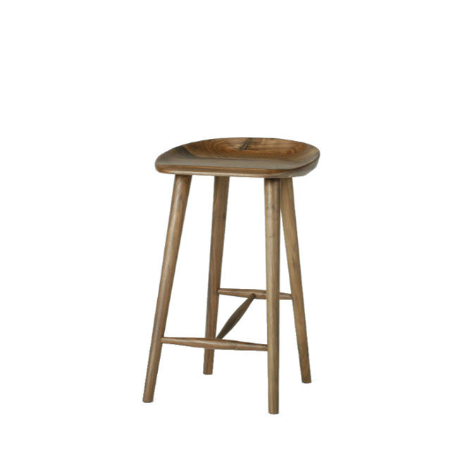 counter stool made of solid wood