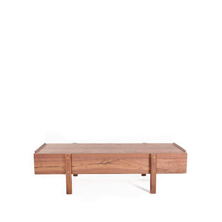 american walnut modern coffee table