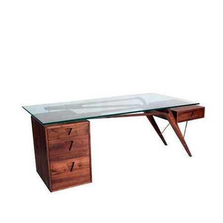 Jetson Glass Top Desk