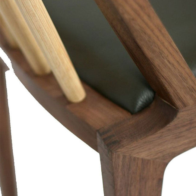 walnut and hickory dining chair