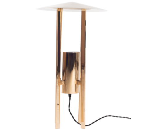 gold finish desk lamp