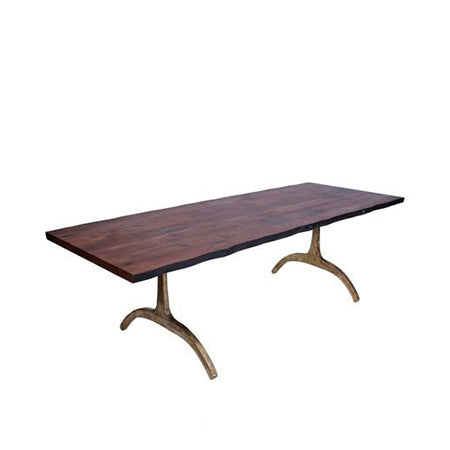 rectangle walnut top dining table