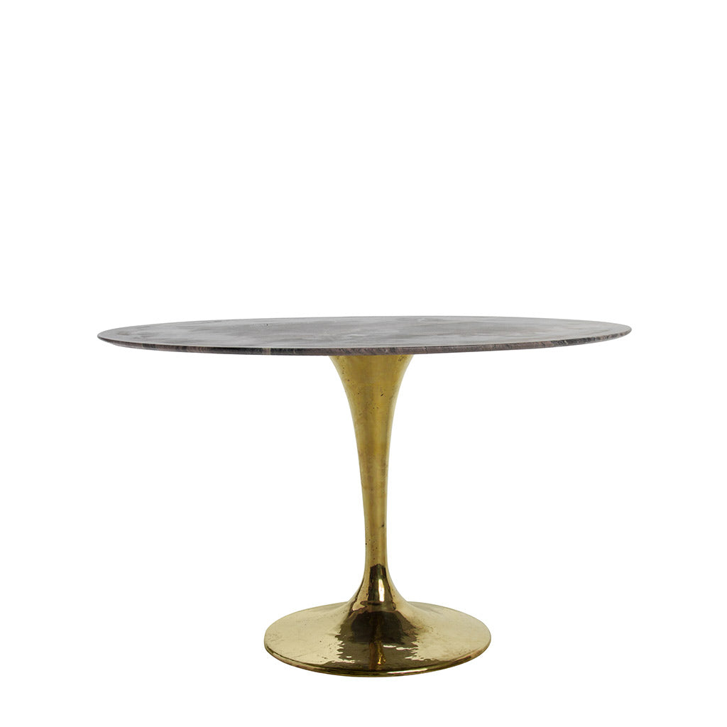 dinner table with a white marble top