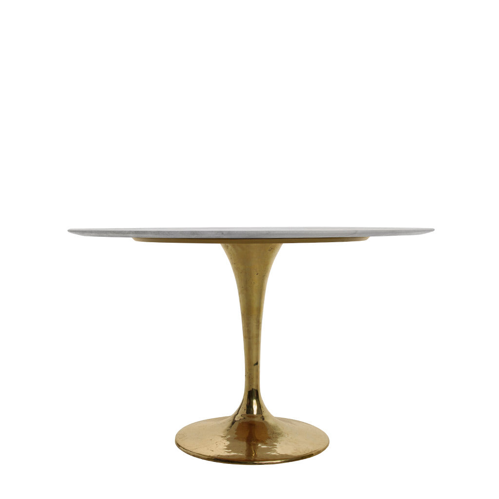Lucia Marble Top Dining Table Round Dining Table White On