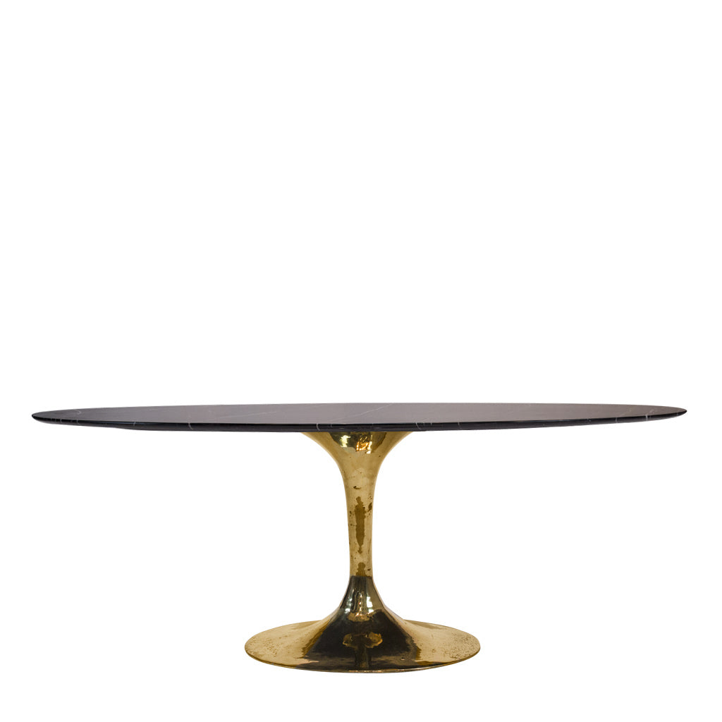 Lucia A Marble Top Oval Dining Table Mid Century - Oval dinner table