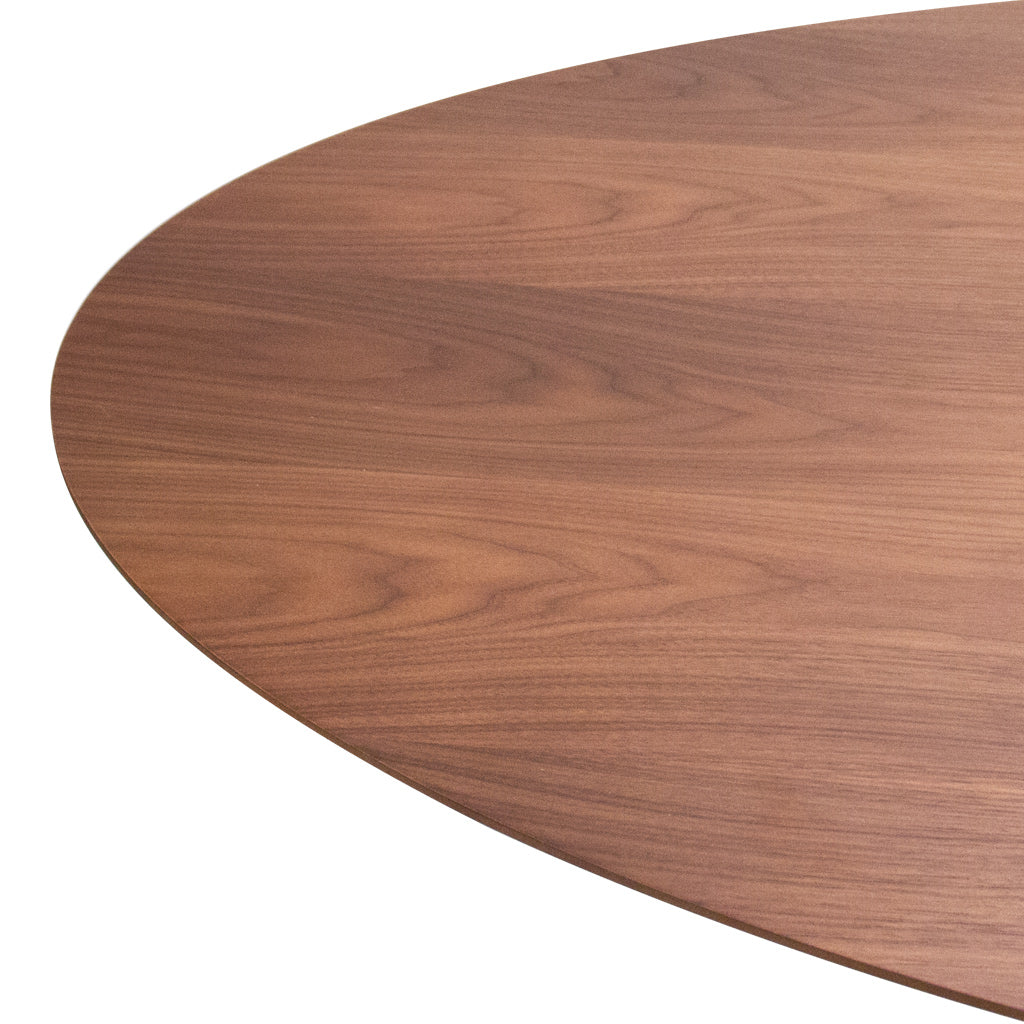 Lucia A Walnut Oval Dining Table