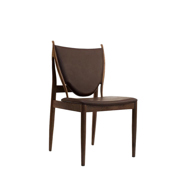 brown leather dining room chair