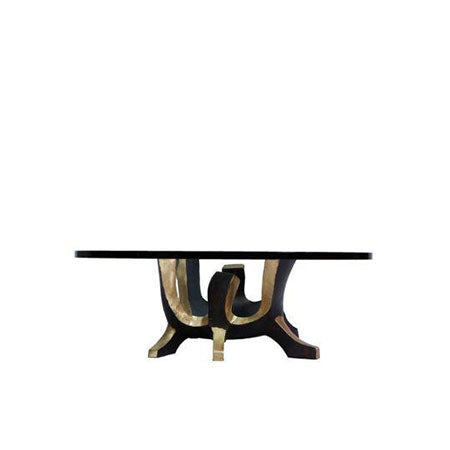 bronze base coffee table