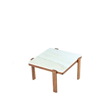 square coffee table with marble top