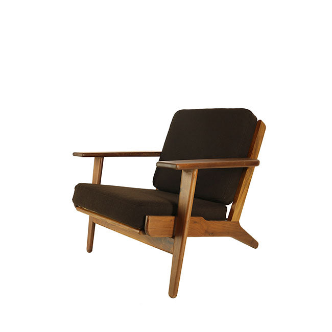 mid century modern brown chair