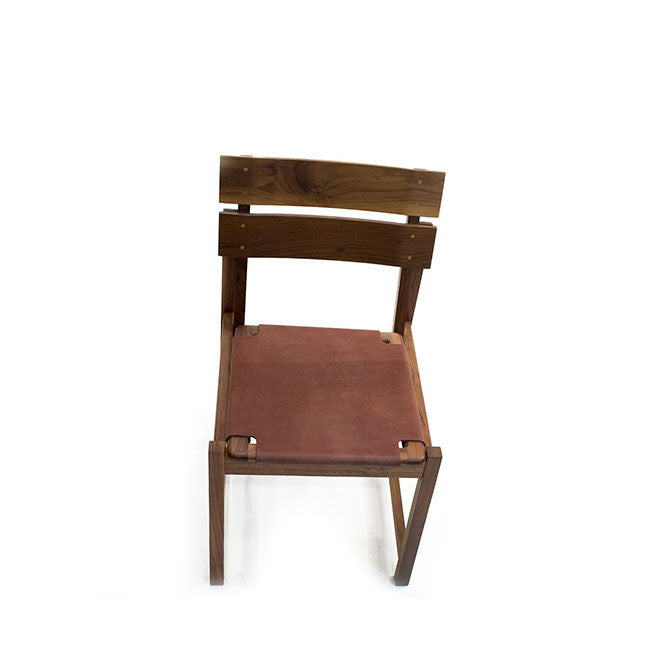 leather seat dining chair