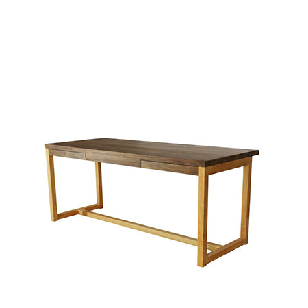 desk with walnut wood top