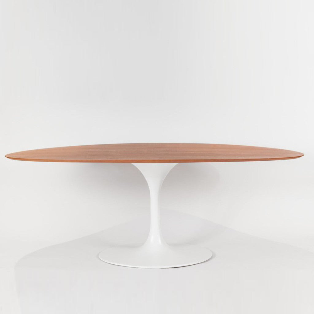 walnut wood top oval dining table