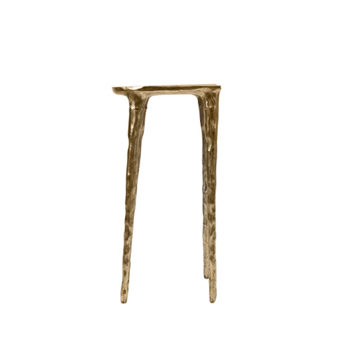 brass bar stool with mirror finish