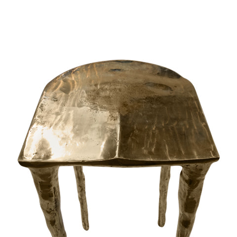 bar stool made of brass