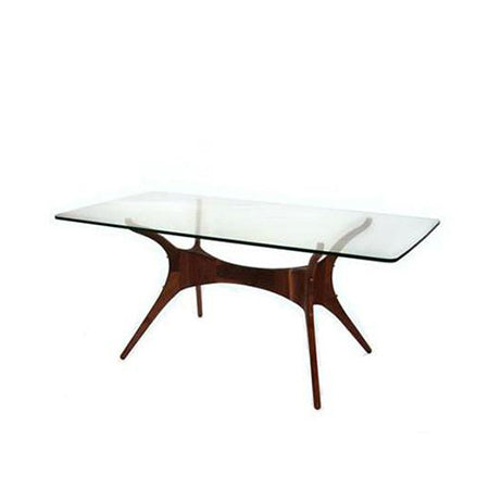 glass top rectangle dining table