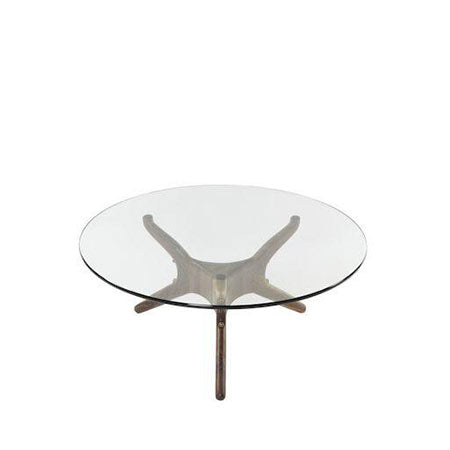 modern glass top coffee table
