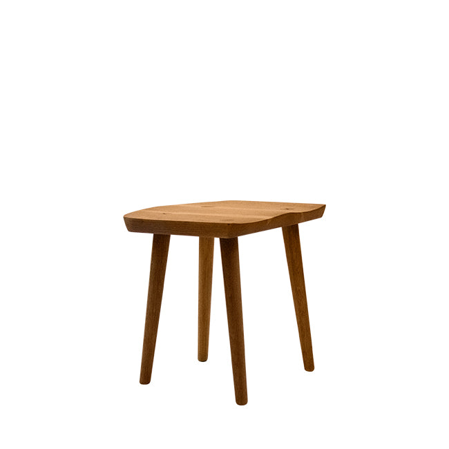 solid white oak wood stool