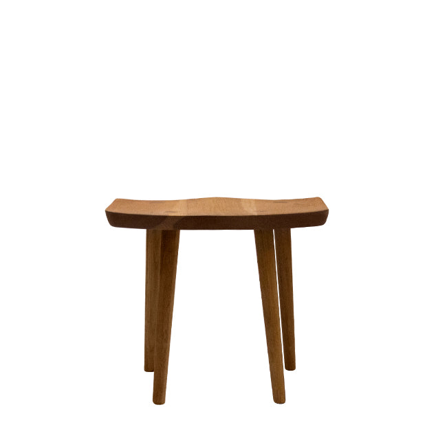 short stool with white oak