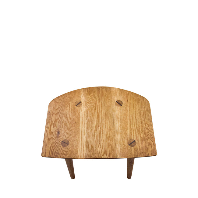 low wood stool