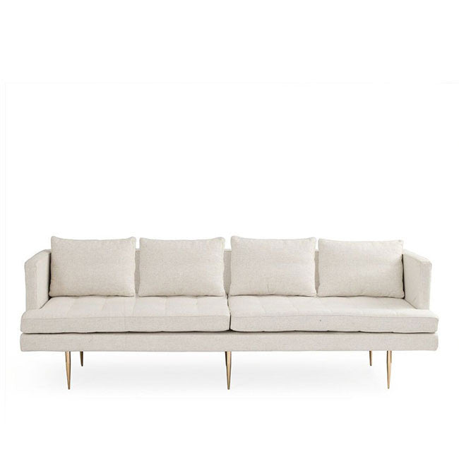 Siena A - Mid Century Modern Sofa - Fabric or Velvet | White on ...