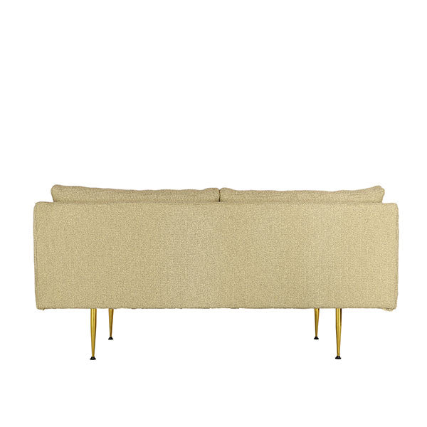 modern loveseat from behind