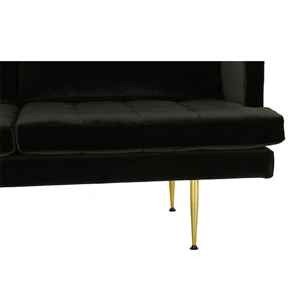 modern 2 seats sofa with charcoal velvet