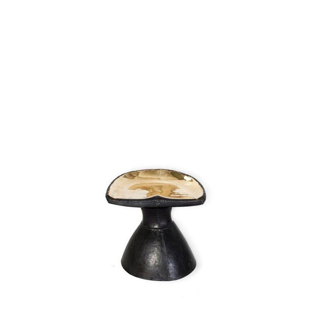 hand forged bronze accent stool