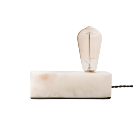 Box Light Marble Table Lamp