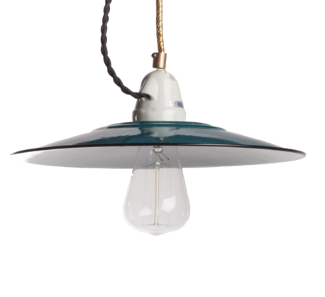 modern blue enamel ceiling light