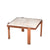 Malibu Square White Marble Coffee Table