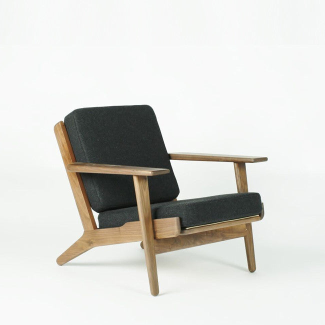 charcoal dark lounge chair