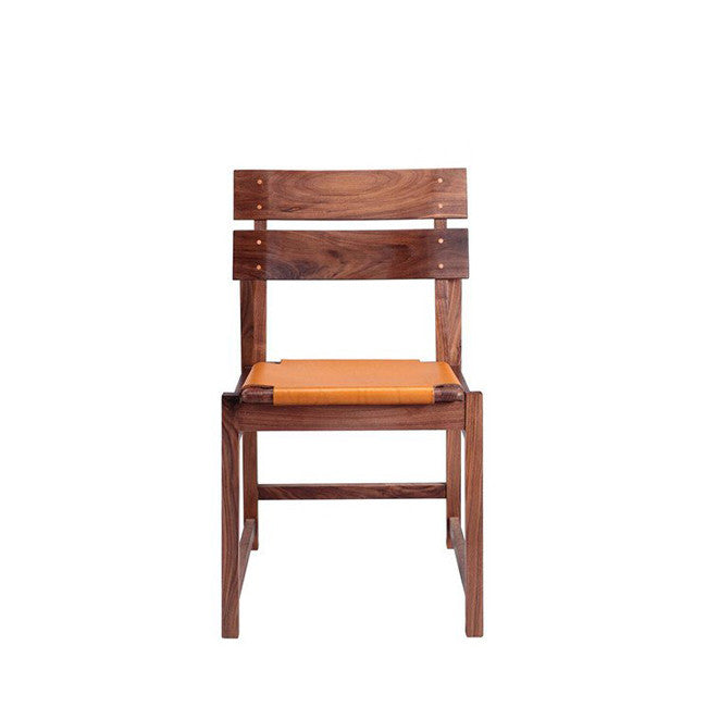 honey leather dining chair