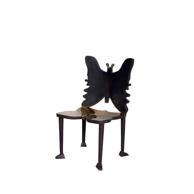 modern dining chair with butterfly design
