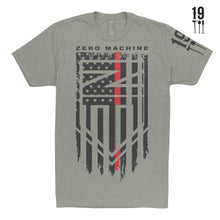 Mens Short Sleeve T-Shirt / RED Line of Courage