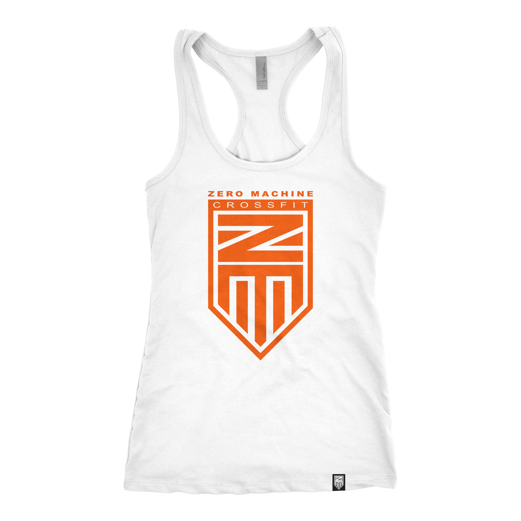 Womens Racer Back WHITEOUT Series Tank / Orange