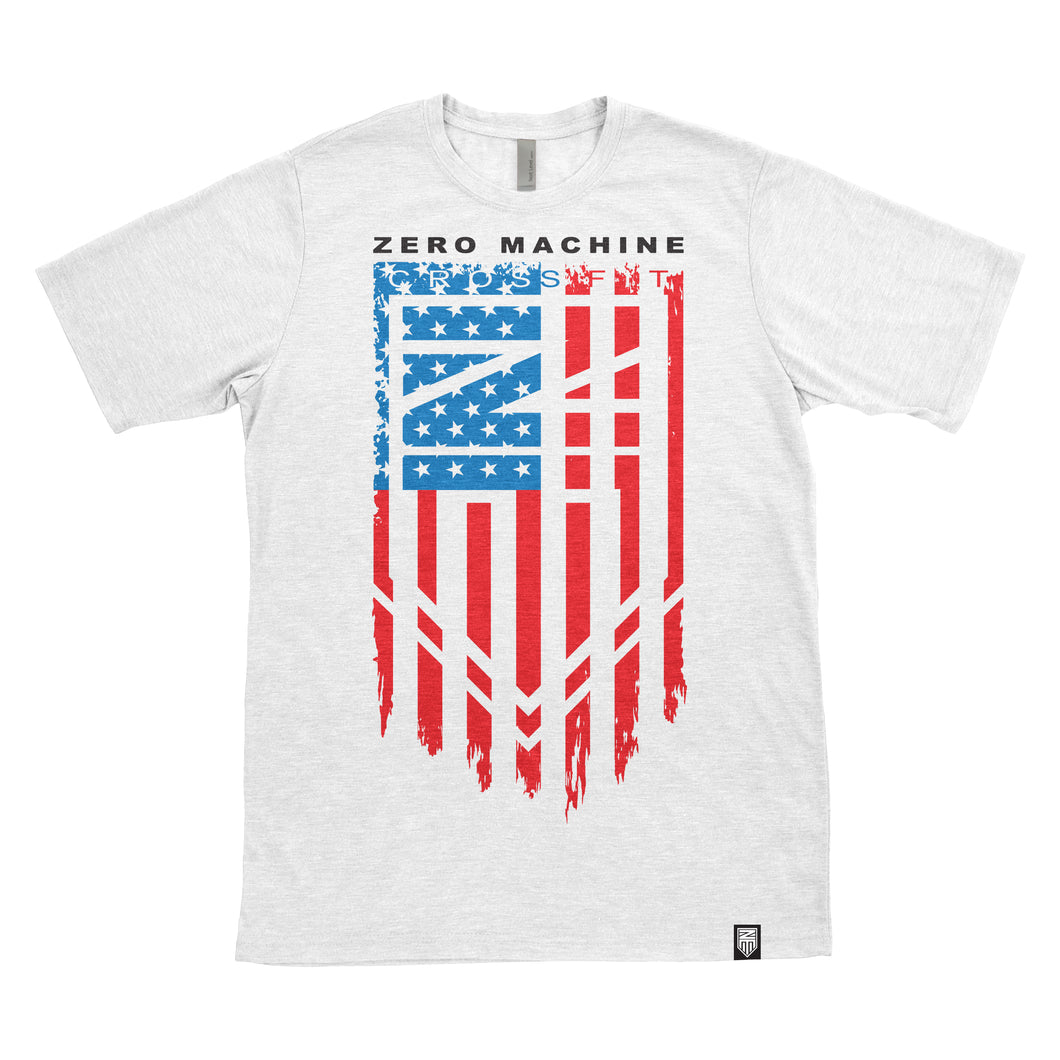 Mens Short Sleeve WHITEOUT Series T-Shirt / USA