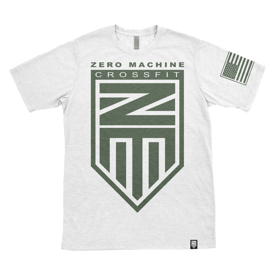 Mens Short Sleeve WHITEOUT Series T-Shirt / Army Green