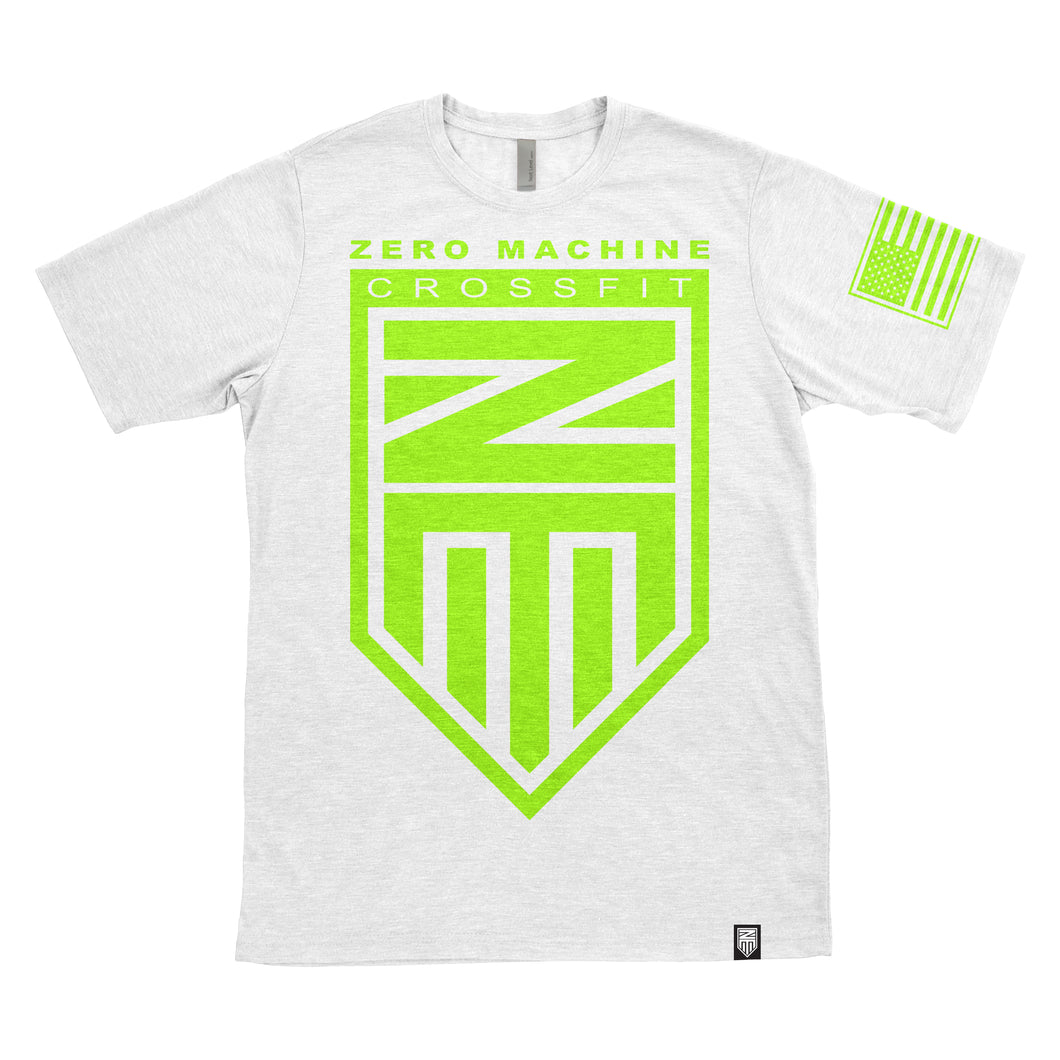 Mens Short Sleeve WHITEOUT Series T-Shirt / Neon Green