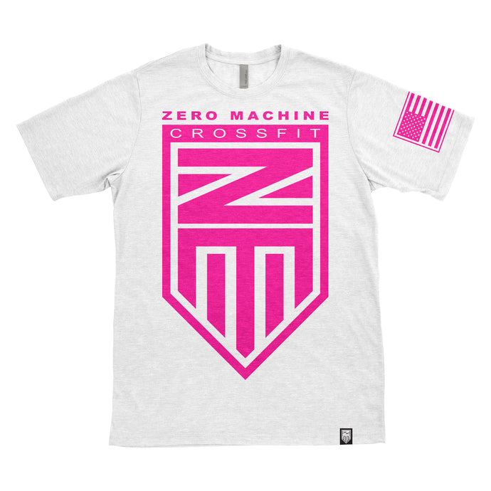 Mens Short Sleeve WHITEOUT Series T-Shirt / Hot Pink