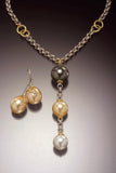 Tahitian and South Sea Pearl Necklace and Earrings by Diana Widman Design
