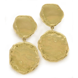 Gold coin earrings by Diana Widman Design in Chicago