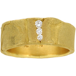 Folded 18KT gold ring with diamonds by Diana Widman Design in Chicago.