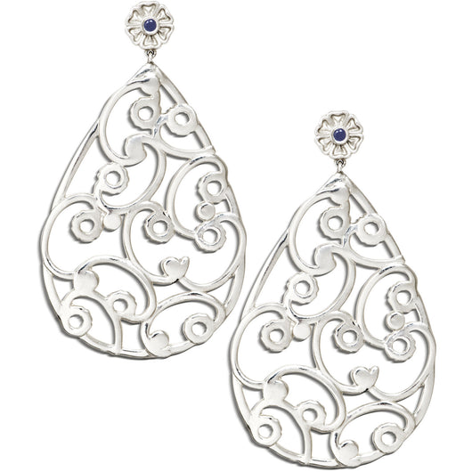 Silver filigree earring by Diana Widman Design in Chicago.