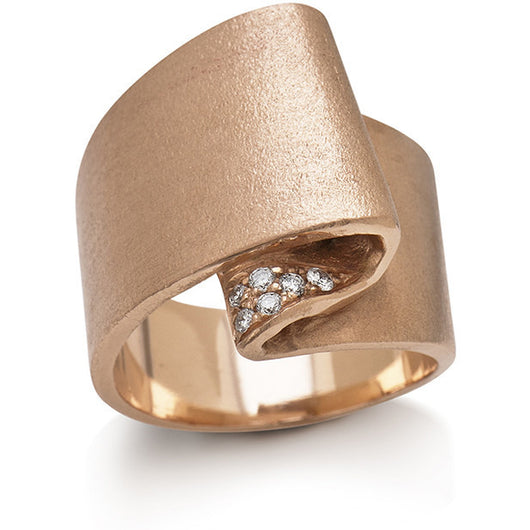 rose gold folded ring by  Diana Widman Design in Chicago.