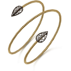 Gold Double Twist Bracelet